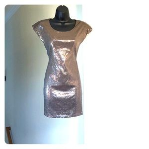 CLEARANCE! TRAC sz S gray silver sequined dress